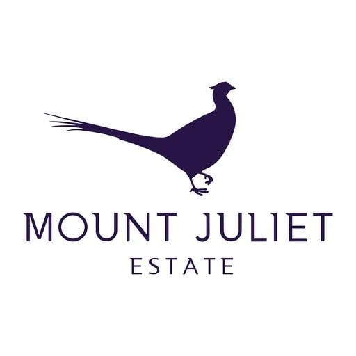 Purple logo of Mount Juliet Estate on white background