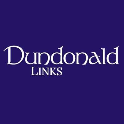 White Dundonald Links on purple background