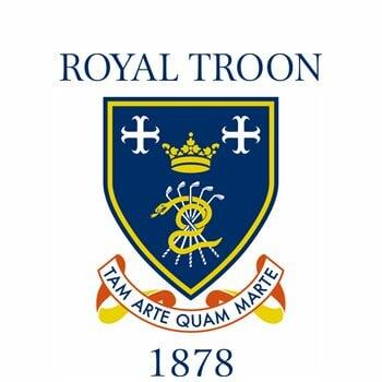 Royal Troon logo on white background