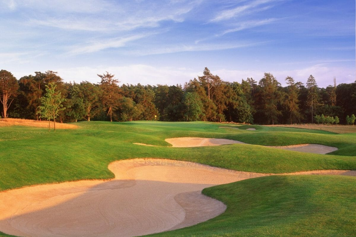LArge bunkers protect O'meara golf course at Carton House
