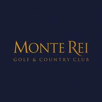Yellow Monte Rei Logo on blue blackground