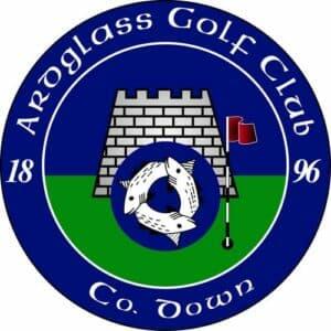 Blue and green Ardglass golf club logo