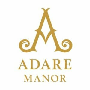 Gold Adare Manor Logo on a white background