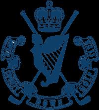Blue Royal County Down Golf Club Logo on white background