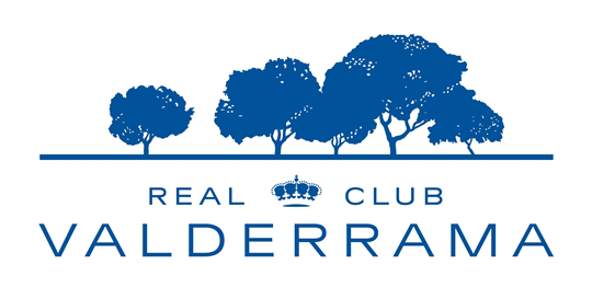Blue Real Club Valderrama Logo on white background
