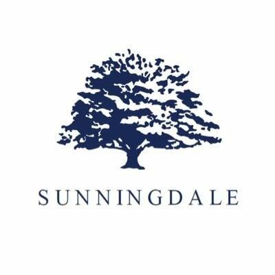 Blue Sunningdale golf club on white background