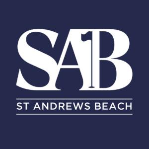 St Andrews Beach Logo Blue