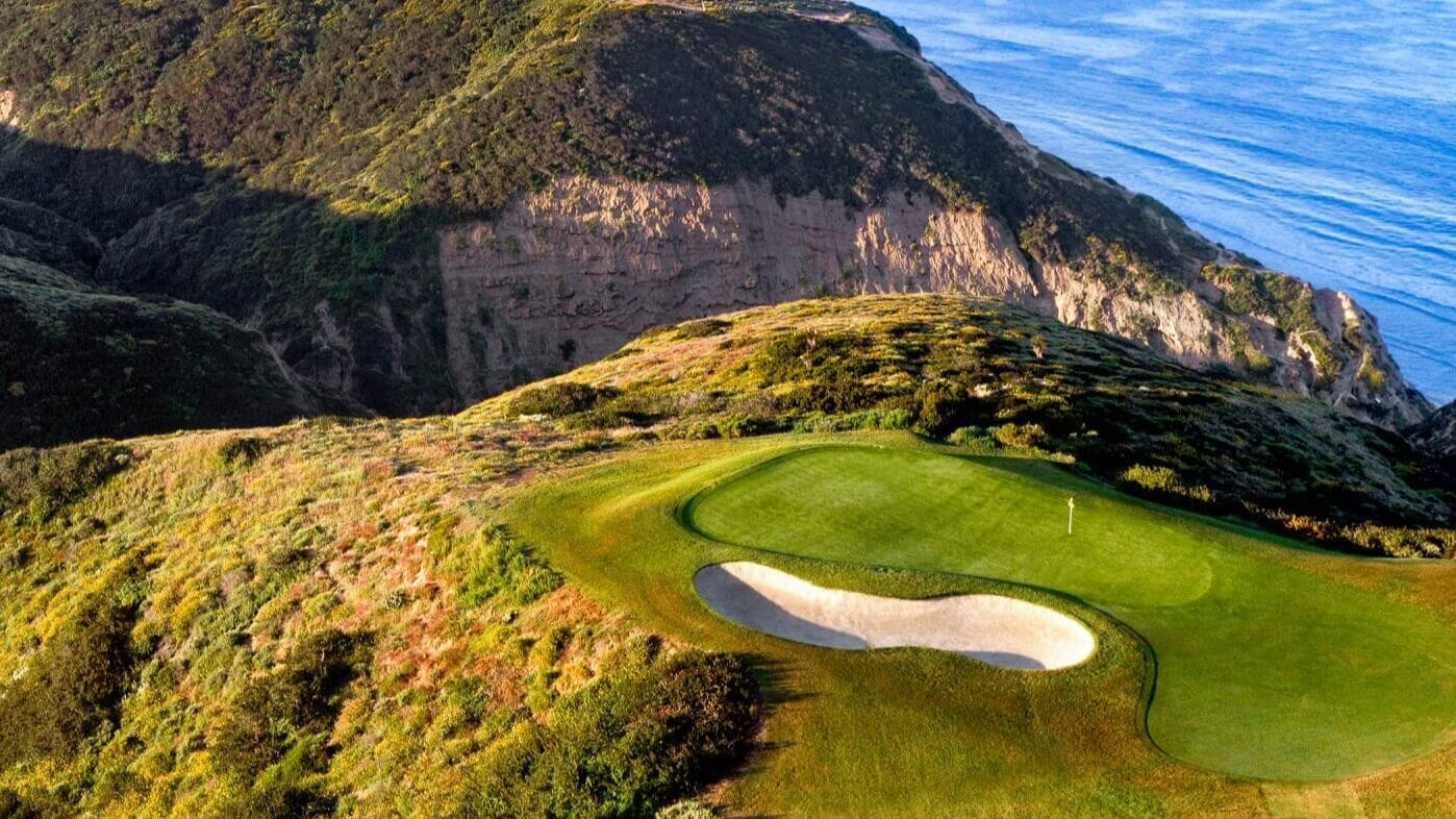 Third green of Torrey Pines South Course