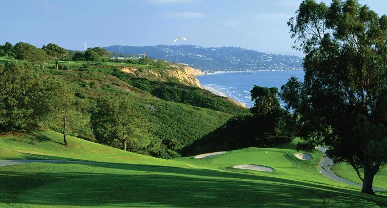 Torrey Pines golf course facing south coastline