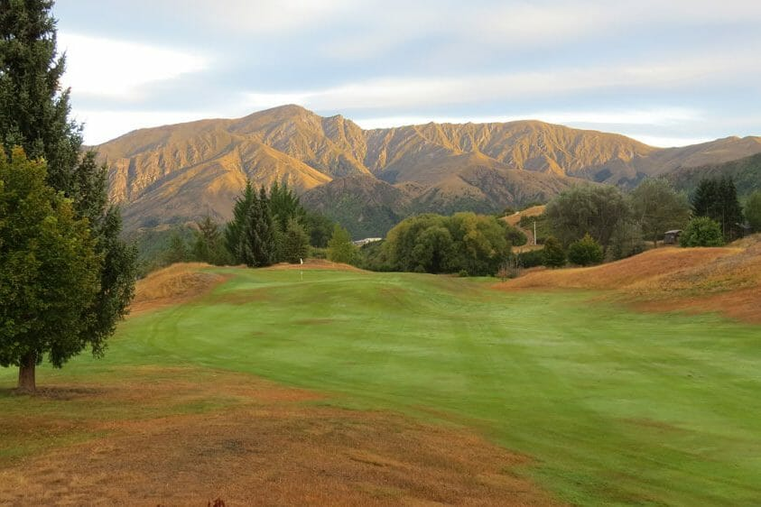 Open fairway with mountain views at Arrowtown Golf Club