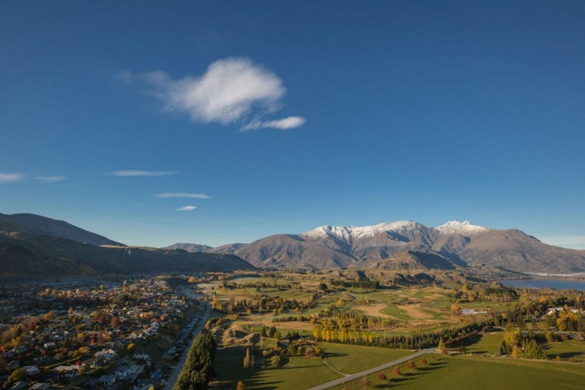 Arrowtown panorama view in New Zealand