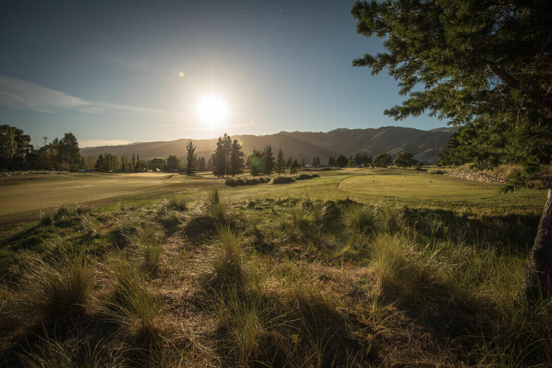 Sun rises over the second green at Cromwell golf club