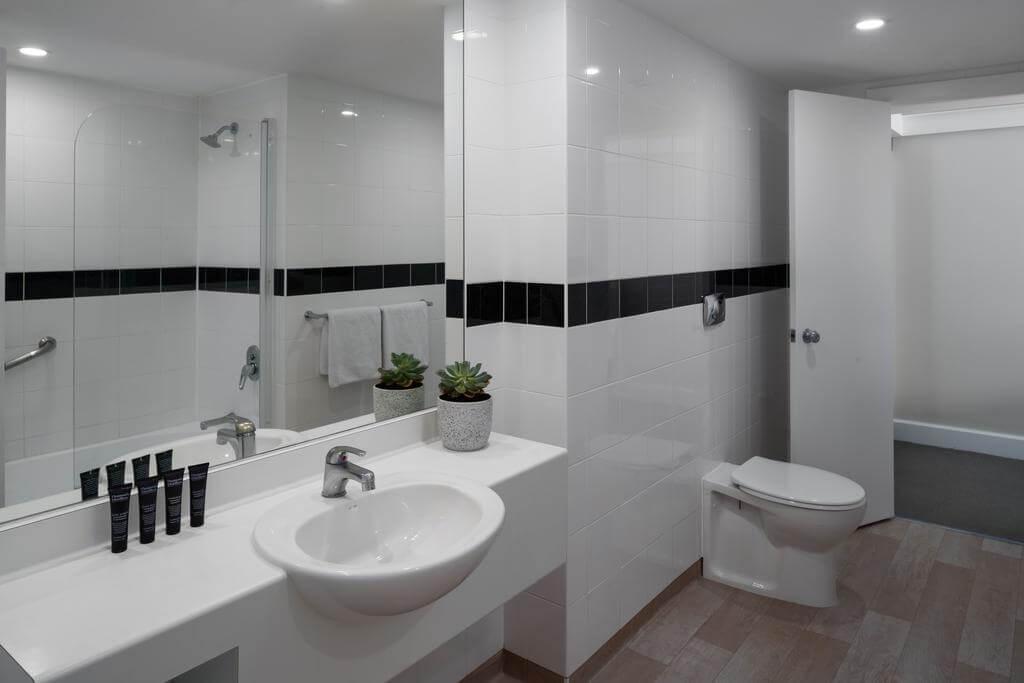 Large bathroom in a standard room
