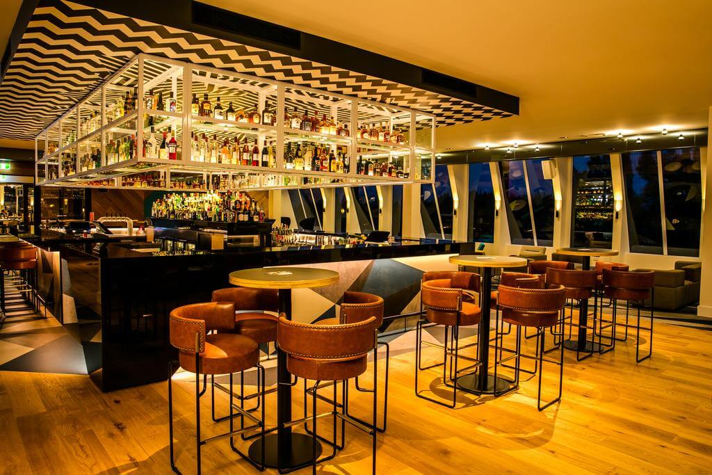 Reds bar with contemporary furnishings