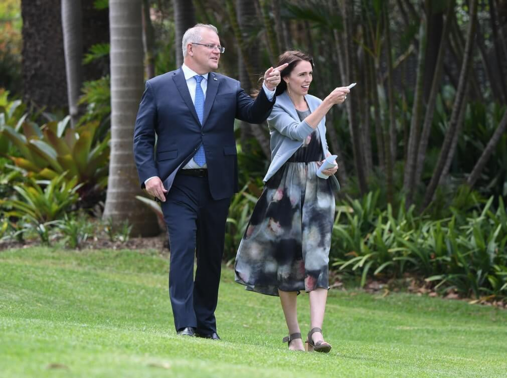 Scott Morrison and Jacinda Ardern discuss a travel bubble