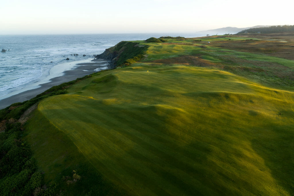 Sheep Ranch golf course overlooking Pacific Ocean