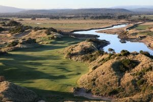 Lost Farm golf course adjacent to Forester River in Tasmania