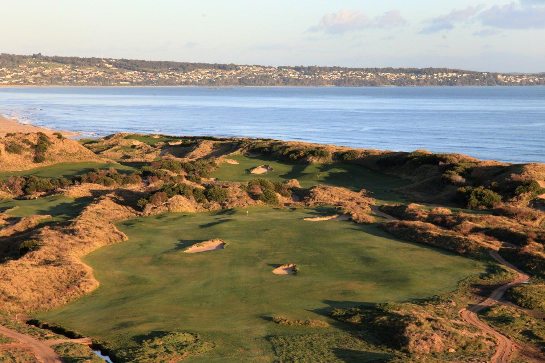 Lost Farm golf course overlooks Bass Strait
