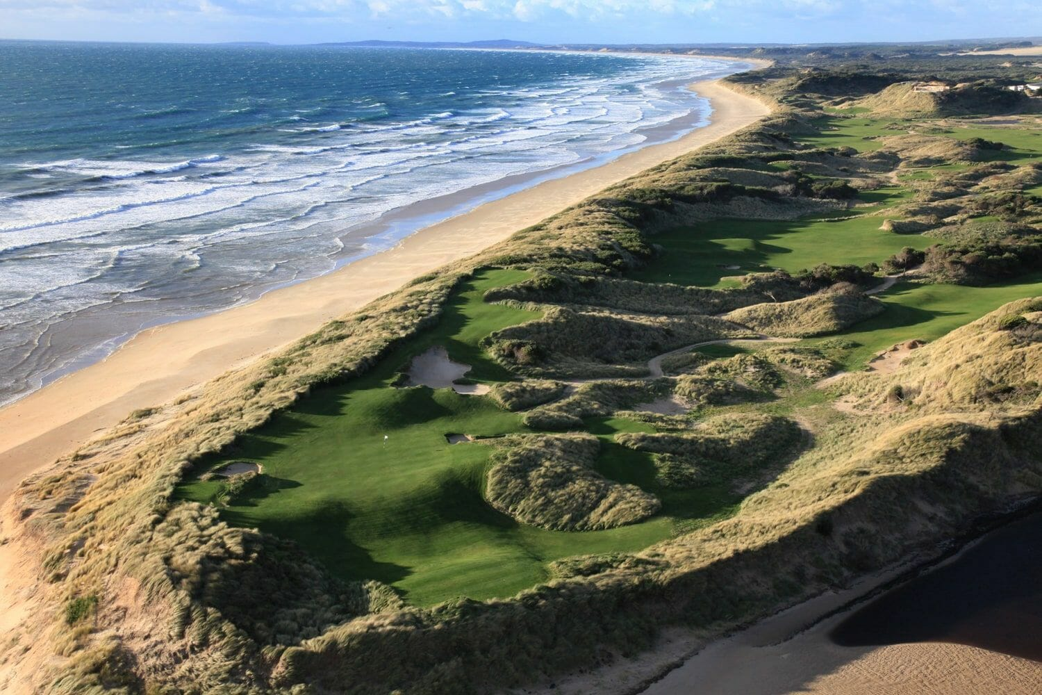 Lost farm golf course adjacent to Barnbougle Beach