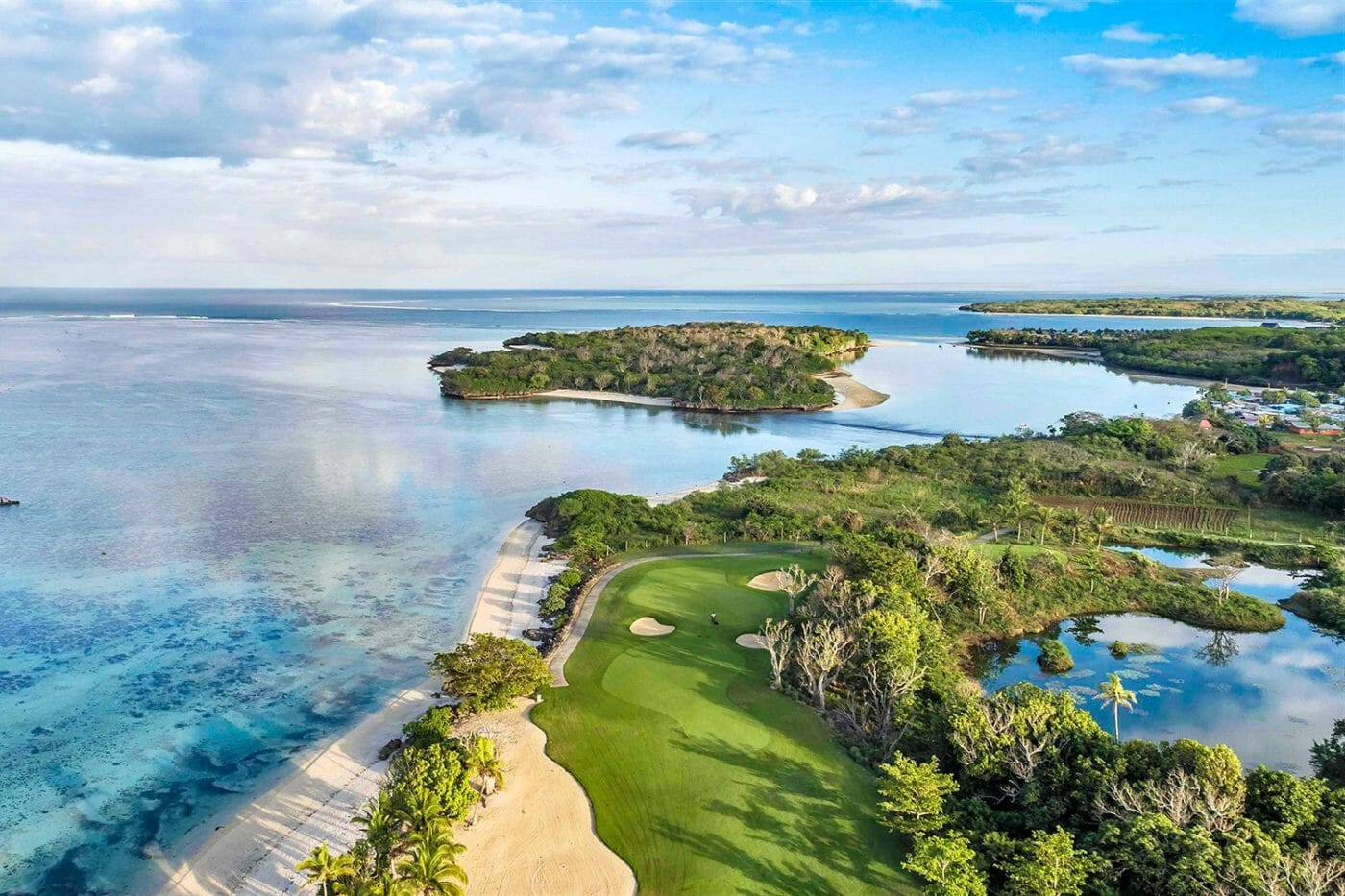 Natadola Bay golf course aerial