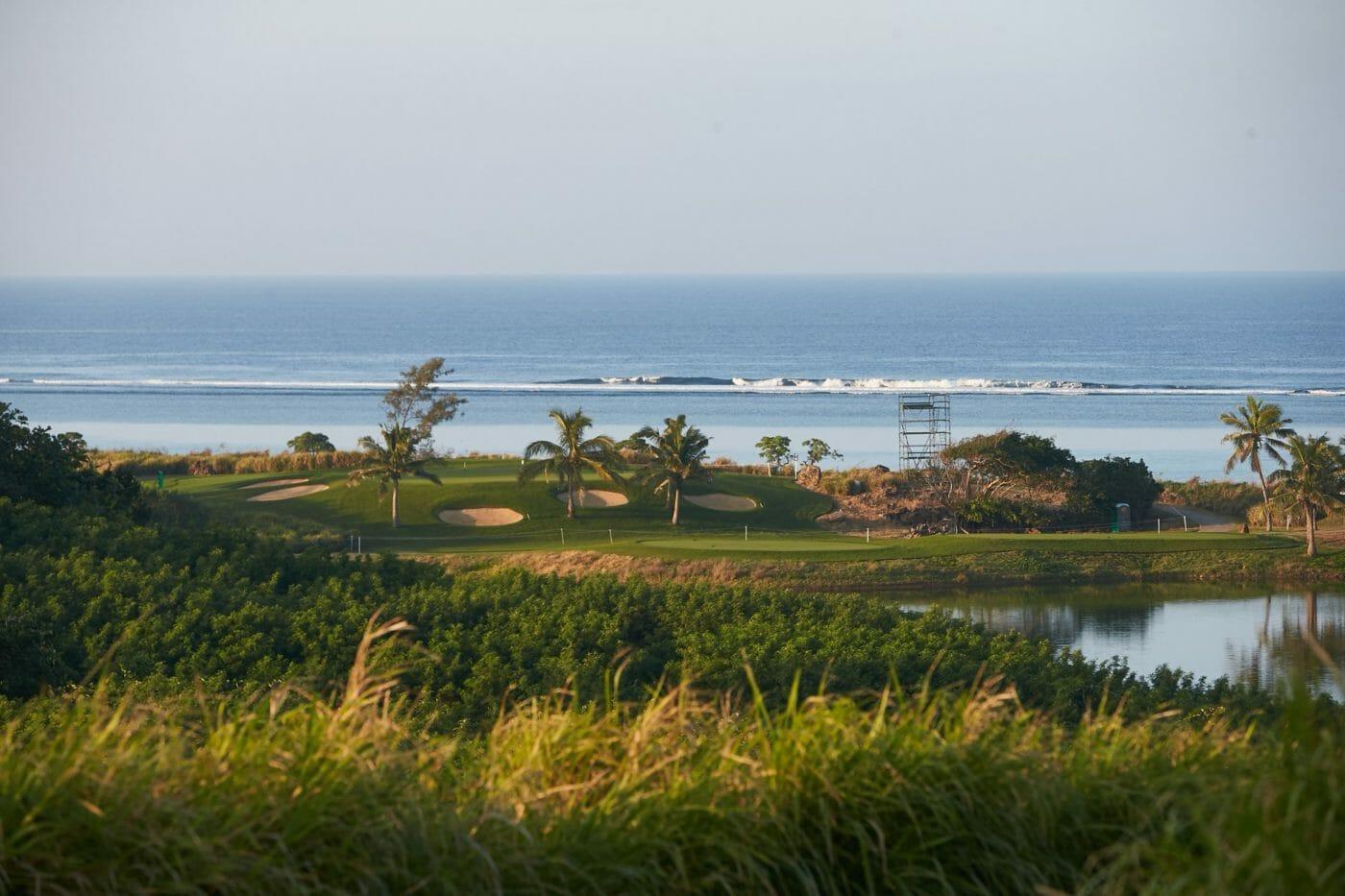 Pacific Ocean backdrop from Natadola Bay Golf Course