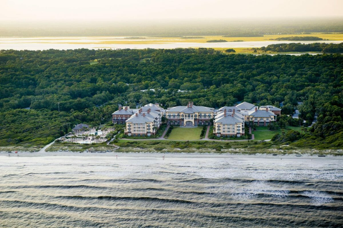 Aerial view of The Sanctuary at Kiawah Island Resort