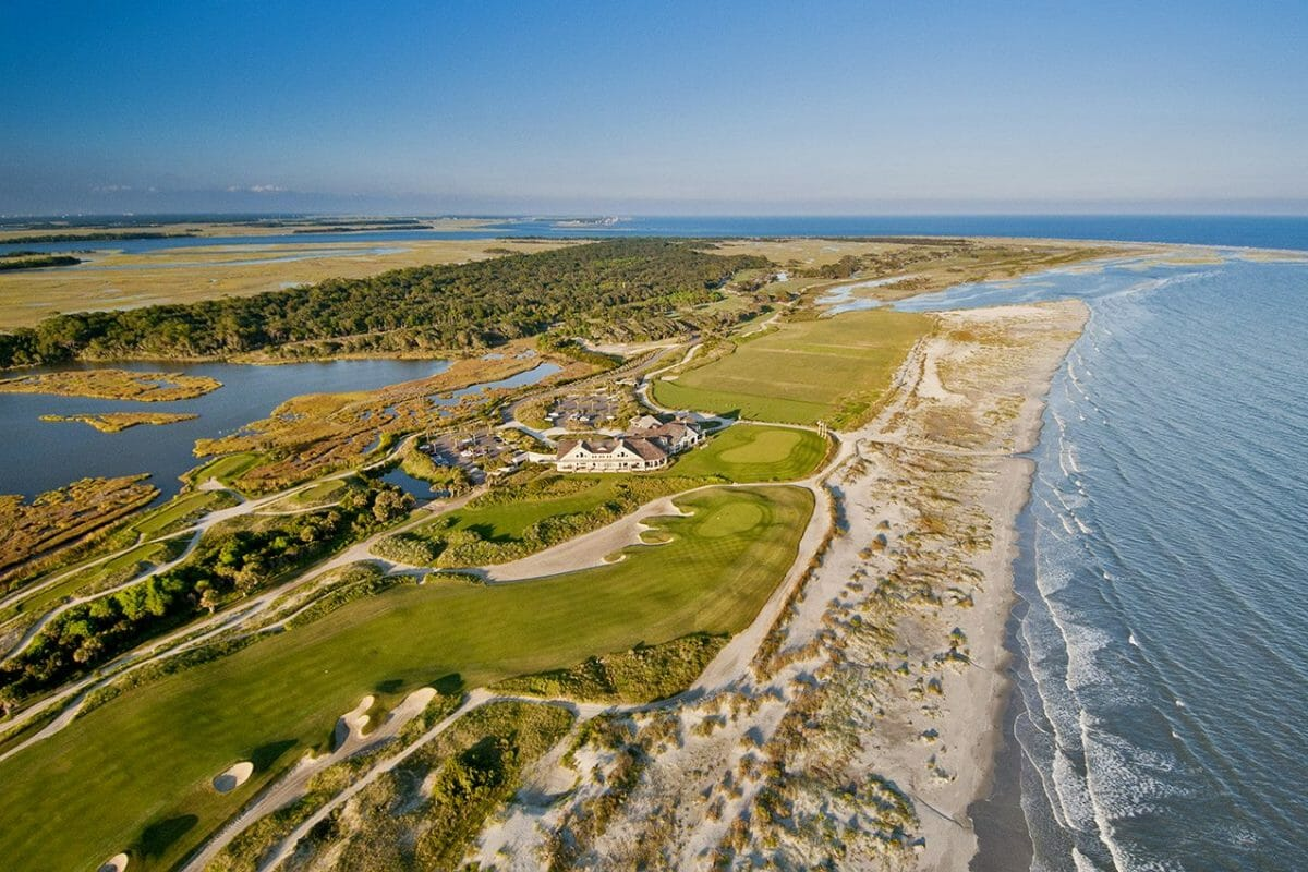 The Ocean Course aerial view at Kiawah Island
