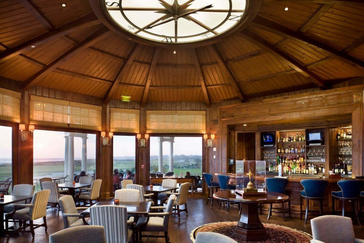 Interior of Ryder Cup Lounge at Kiawah Island Resort