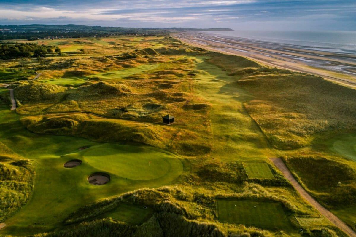 County Louth golf course next to Irish Sea