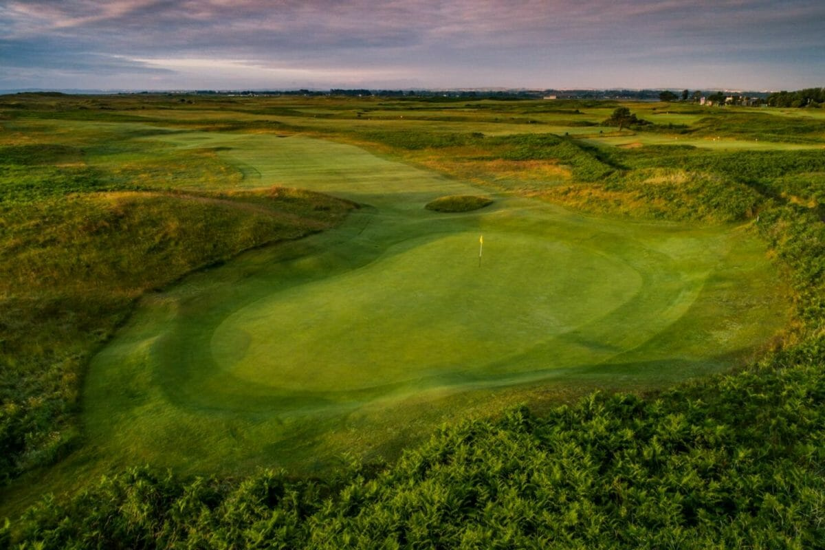 County Louth golf course sixteenth green