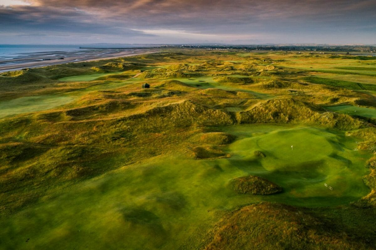 County Louth golf course aerial view