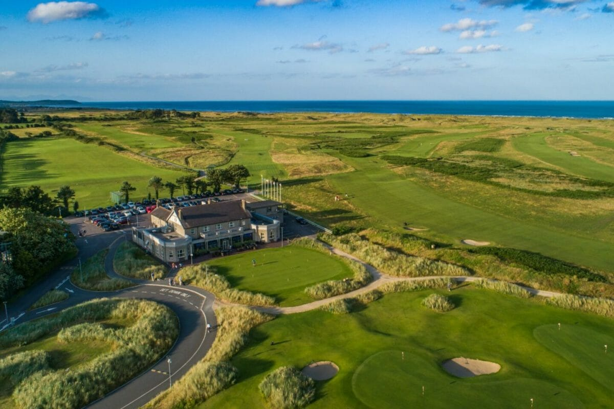 County Louth golf club from above