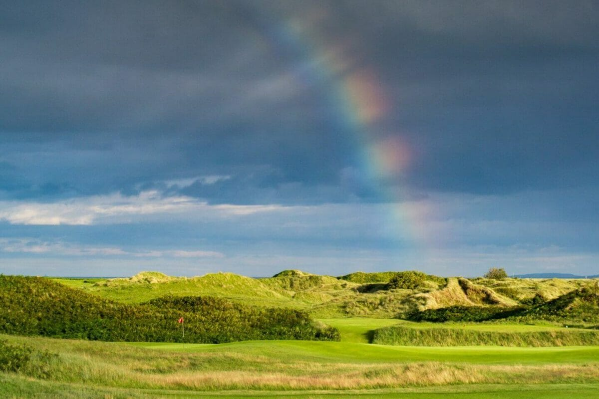 Rainbow over County Louth golf course