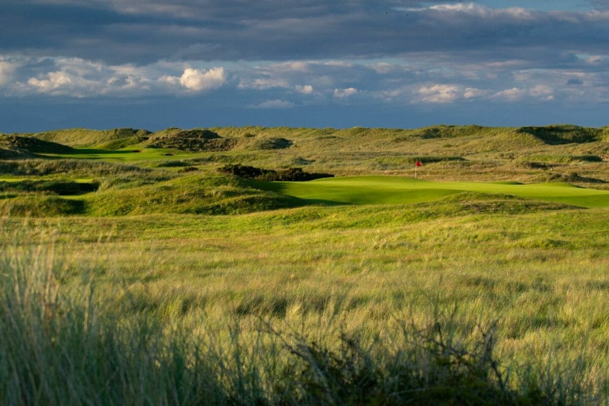 County Louth golf course sixth green