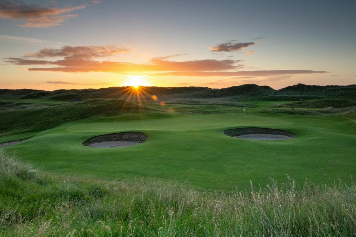 Sun rising over County Louth golf course