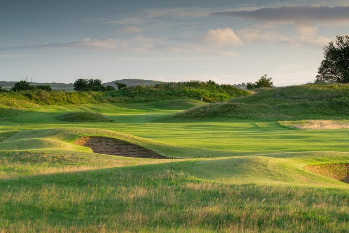County Louth Golf Course approach to sixteenth green