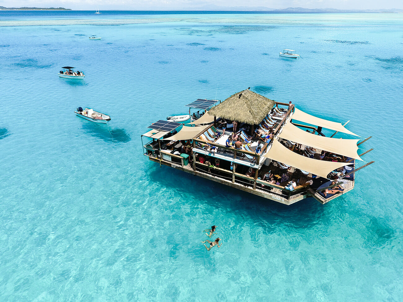 Cloud nine from above in Fiji