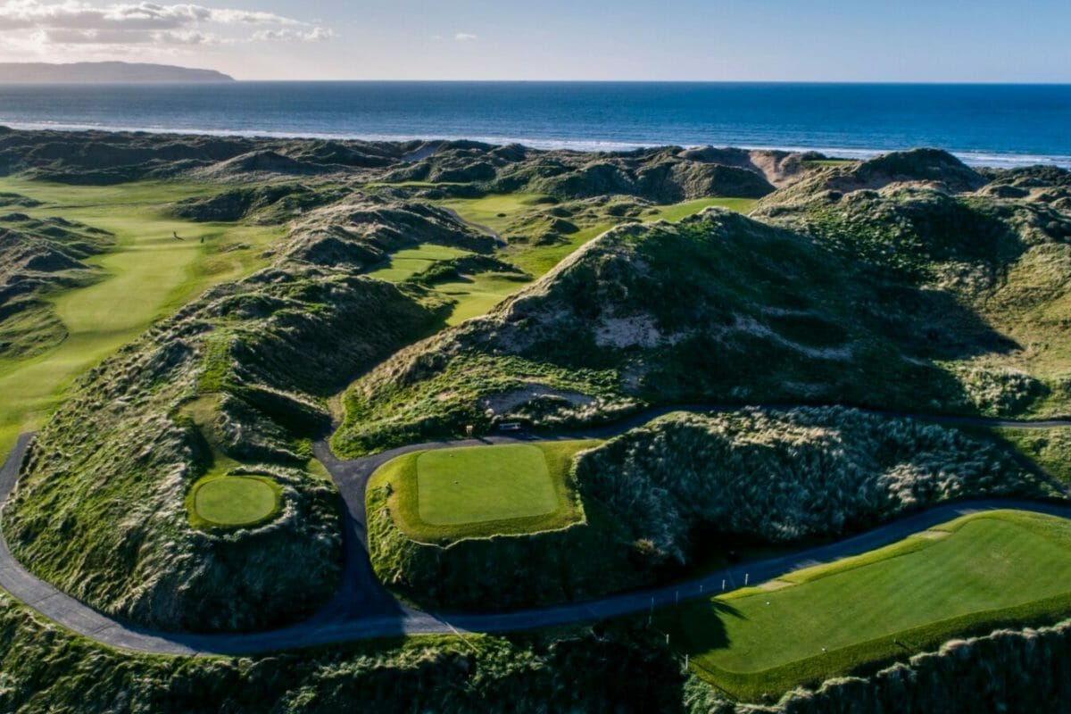 Royal Portstewart golf course aerial