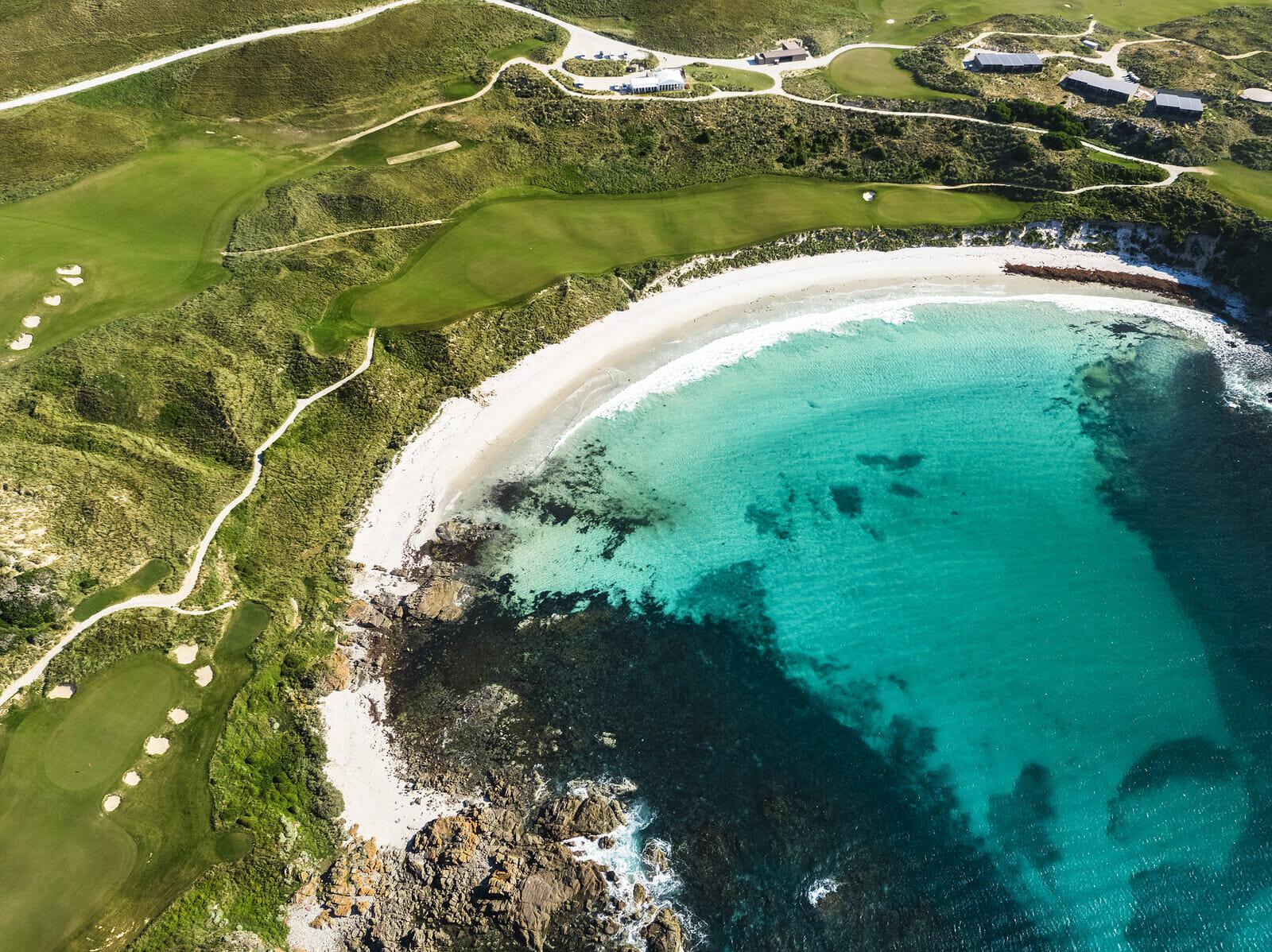 Birds-eye-view of Cape Wickham golf course