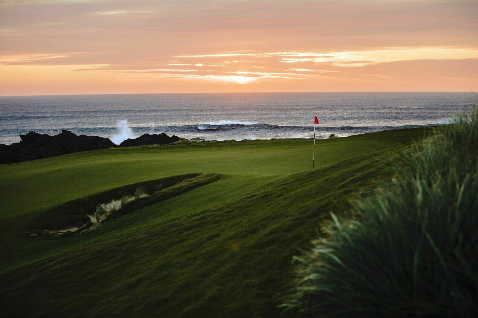 Sunset over Cape Wickham Links