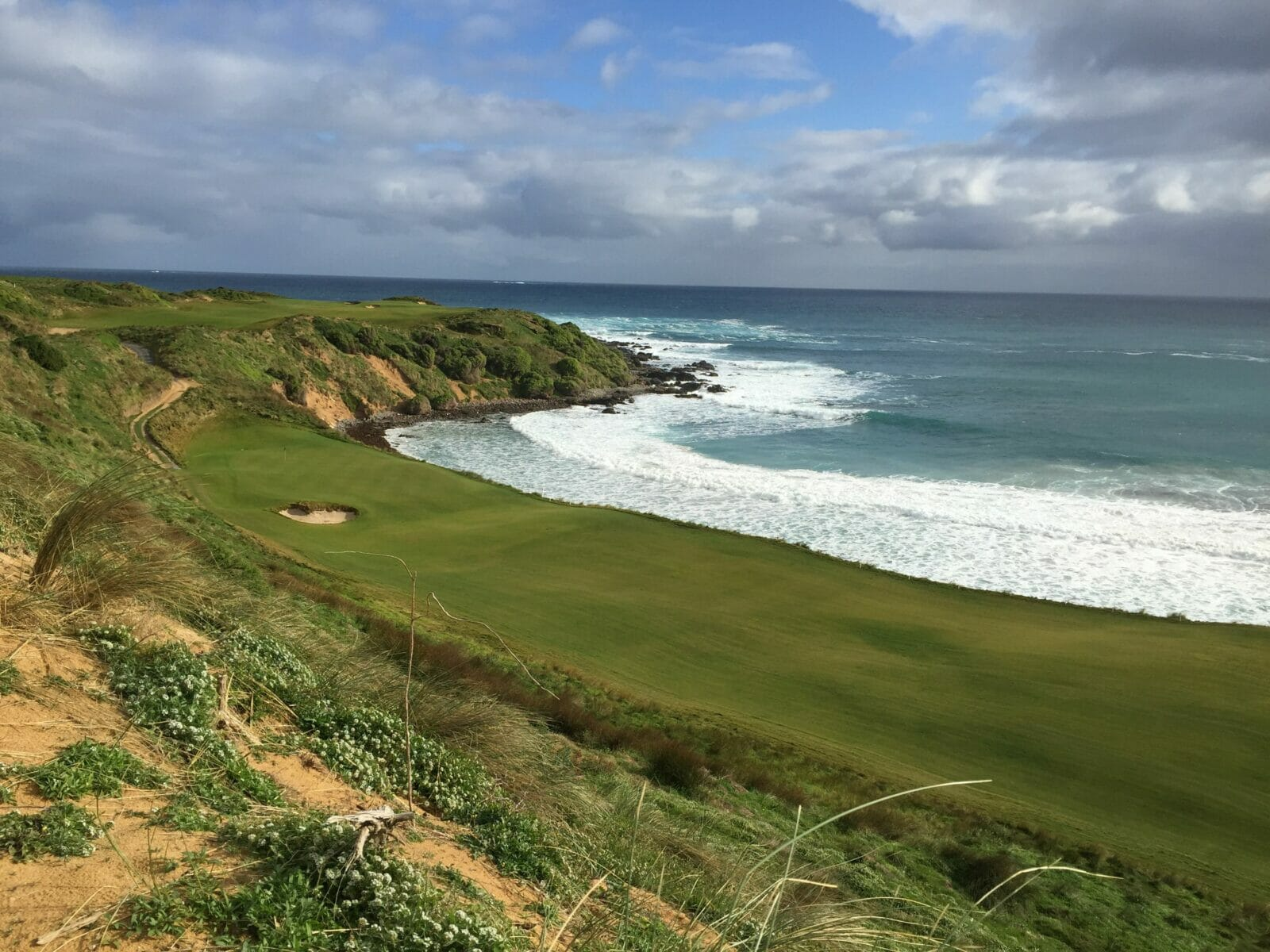 Cape Wickham golf course adjacent to Bass Strait