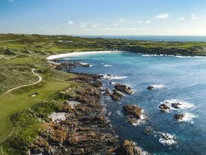 Cape Wickham golf course and ocean