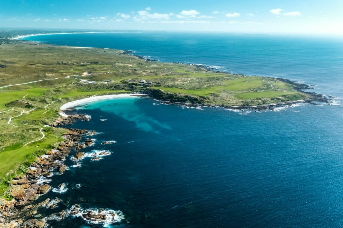 Cape Wickham golf links from above