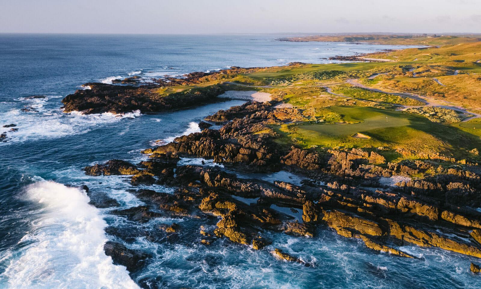 Ocean Dunes golf course aerial