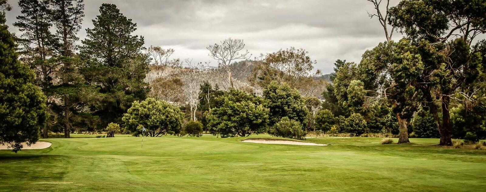 Royal Hobart sixth green
