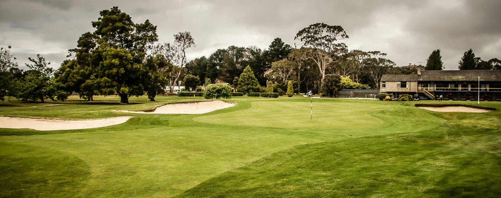 Royal Hobart ninth green