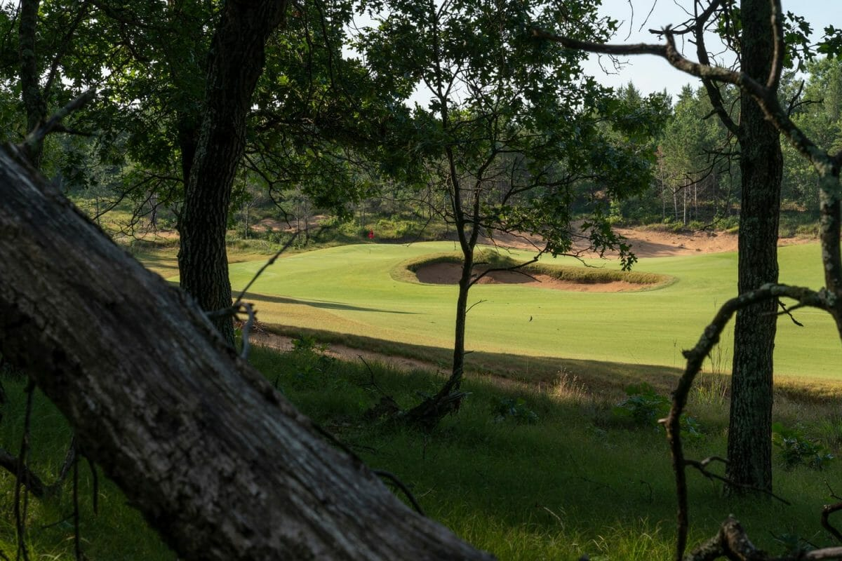 Hiking trails overlooking Sand Valley golf course