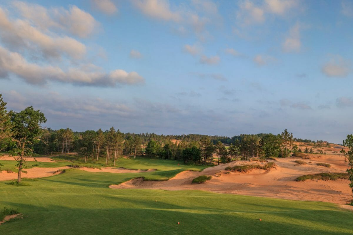 Red sand at Sand Valley Resort