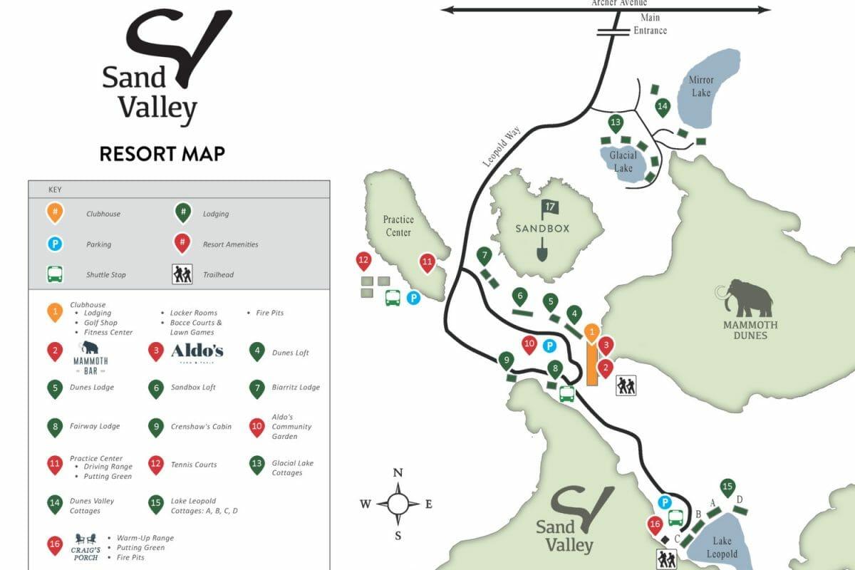 Map of Sand Valley Resort