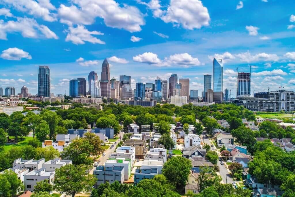 Charlotte City in North Carolina